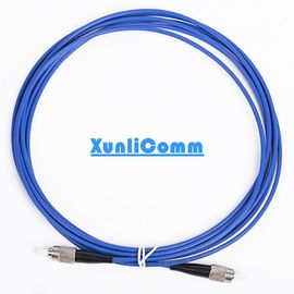 Blue Color Armored Fiber Optic Cable Single Mode FC - FC Highly Security