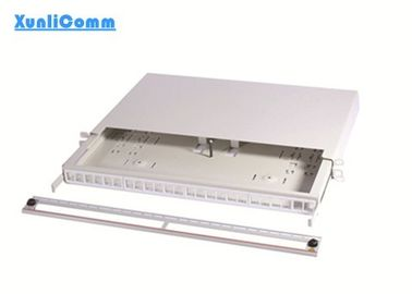 Flexible Multimode Fiber Patch Panel Gray Color For FTTH FTTB FTTX Network